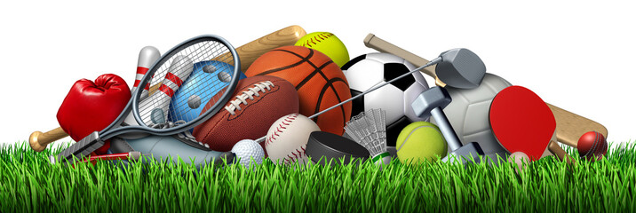 Fototapete - Sports Equipment