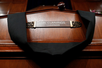 The House Committee on Oversight and Reform room displays a memorial for deceased committee Chairman Rep. Elijah Cummings (D-MD) on Capitol Hill, in Washington