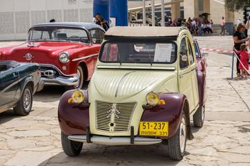 JERUSALEM, ISRAEL - APRIL 3, 2018: Vintage  old-timer Citroen 2CV (1957)