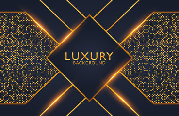Geometric luxury gold metal background. Graphic design element for invitation, cover, background. Elegant decoration Wall mural