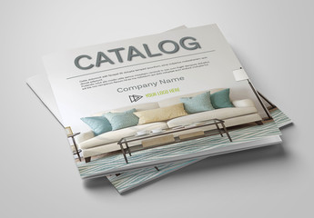 Catalog Layout with Pastel-Colored Accents
