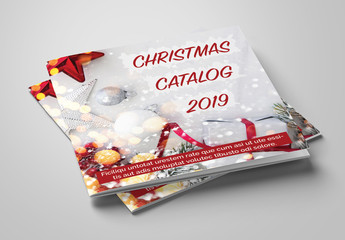 Catalog Layout with Red and Green Accents