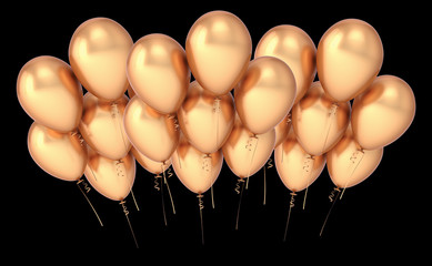 Baloons golden party balloon group banner luxury