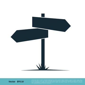 Signboard Icon Vector Logo Template Illustration Design. Vector EPS 10.