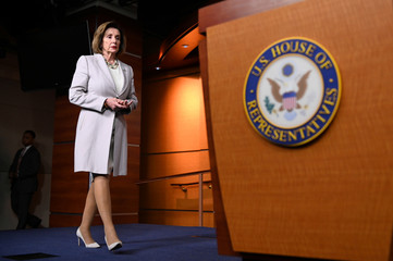 U.S. House Speaker Pelosi speaks during a news conference on Capitol Hill in Washington