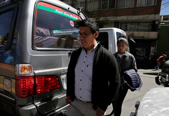 Bolivian Reynaldo Kantuta, a computer engineer who does not agree with the re-election of President Evo Morales, walks in La Paz