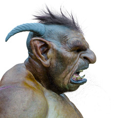 troll profile id side view