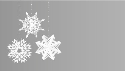 Snowflakes simple christmas decoration