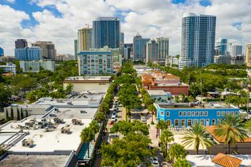 Wall Mural - Downtown Fort Lauderdale FL Las Olas Boulevard