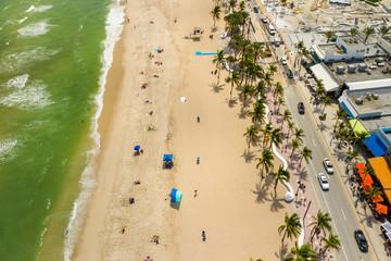 Fototapete - Aerial above Fort Lauderdale Beach FL