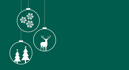 Simple Christmas card Wall mural