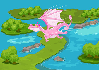 Magic Pink Dragon
