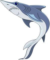 Foto op Canvas Sprookjeswereld Blue Shark