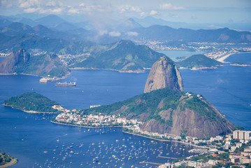 Brazil, Rio de Janeiro, view to the city with Sugarloaf Mountain