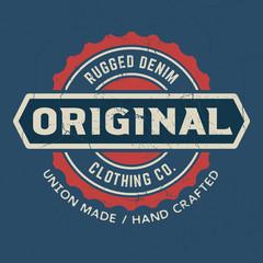 Original Rugged Denim - Tee Design For Printing