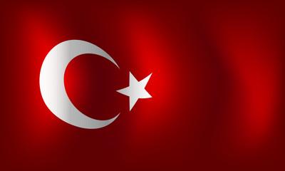 Flag of Turkey - vector illustration
