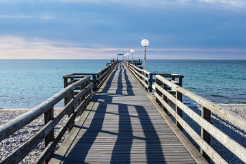 Fototapete - Seebrücke an der Ostseeküste in Rerik