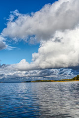 Beautiful cloudscape over the sea. Finland, Tammisaari. Can be used as background, walpapers, postcards and many more ...