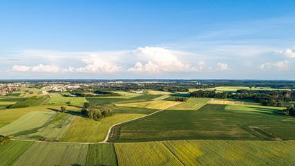 Luftaufnahme Gilching bei München