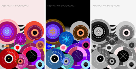Foto op Canvas Abstractie Art 3 Abstract Art Background vector designs