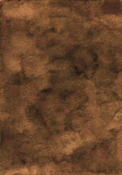 Watercolor deep brown background texture