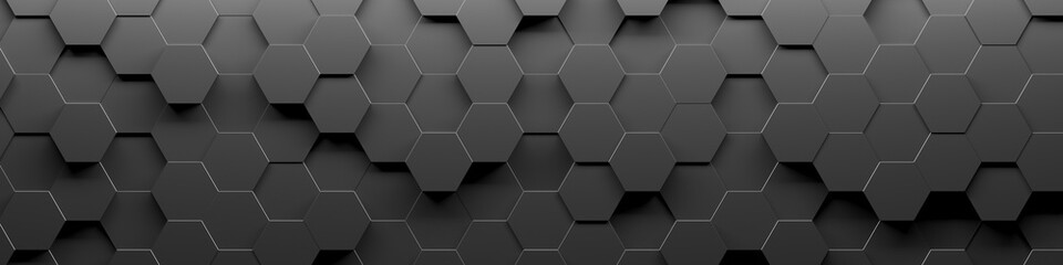 Fotorolgordijn Abstract wave Abstract Hexagon Geometric Surface Loop 1A: light bright clean minimal hexagonal grid pattern, random waving motion background canvas in pure wall architectural white.