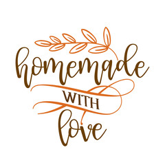 Fototapeta Homemade with love - stamp for homemade products and shops. Vector badge, label. Vector Illustration on a white background obraz