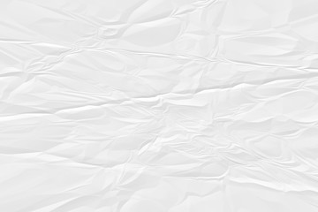 crumpled white paper background close up Wall mural
