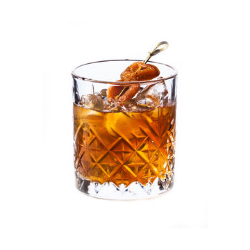 Smoked Honey Cocktail isolated on white