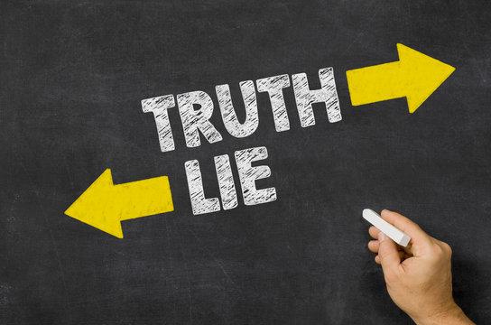 Truth or Lie written on a blackboard