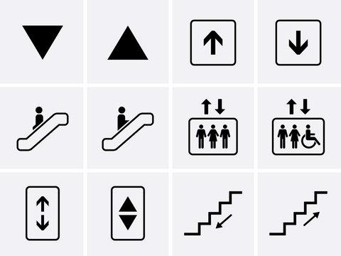 Elevator Icons set.