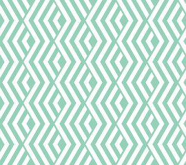 Fotorolgordijn Geometrisch Abstract geometric pattern with stripes, lines. Seamless vector background. White and green ornament. Simple lattice graphic design
