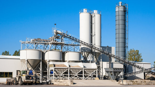 Construction industry concrete plant and equipment