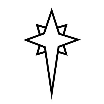 Christmas star. Christian religious symbol of the birth of the concept of Jesus Christ and spirituality. Also symbolize the wishes of Christmas.