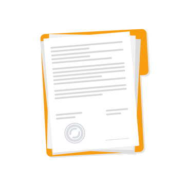Vector icon contract papers design