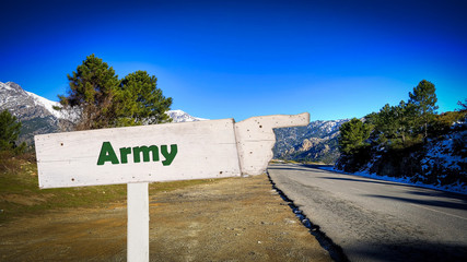 Street Sign to Army