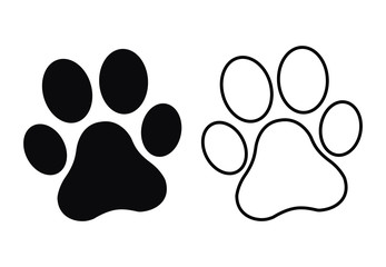 Paw Print. Dog or cat paw