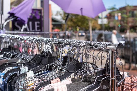 sidewalk sale clothes rack