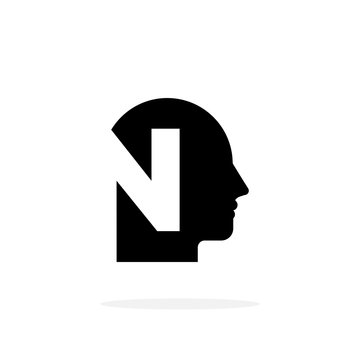 Vector Mental health Logo Letter N