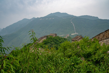 Poster Rio de Janeiro Great Wall of China with a green trees in a background.