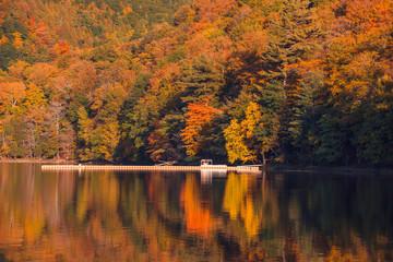 Printed kitchen splashbacks Autumn Amazing Color Autumn Landscape View with a Lake, Mont Saint Hilaire, Quebec, Canada