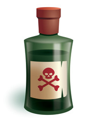 Poison bottle for murder