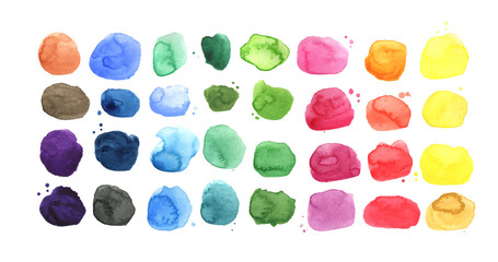 Set of watercolor spots, watercolor palette
