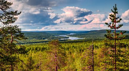 Photo sur Aluminium Bleu jean Kuninkaanlaavu - Lapland 2