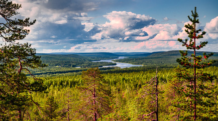 Papiers peints Bleu jean Kuninkaanlaavu - Lapland 2