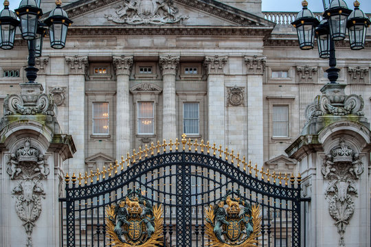 Detail of the Royal Buckingham Palace gate