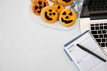 Halloween Desk Laptop