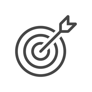 Target Icon in trendy flat style isolated on grey background. Aim symbol for your web site design, logo, app, UI. Vector illustration, EPS10.