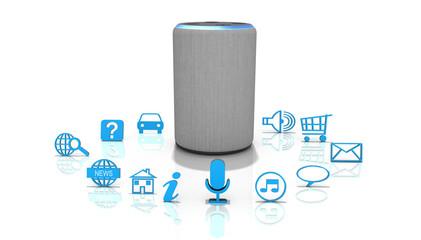 3d Personalisierter Sprachassitent Echo Lautsprecher, freigestellt