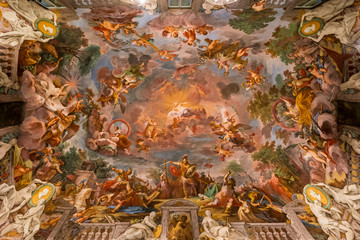 Ceiling painting in the Galleria Borghese